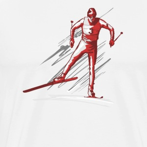cross - country ski T-shirts - Herre premium T-shirt