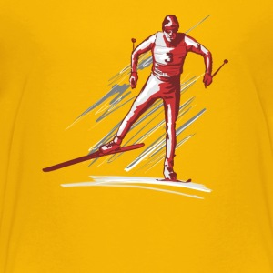 cross - country ski T-shirts - Premium-T-shirt tonåring