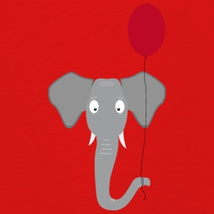 Elephant head with red balloon Long Sleeve Shirts - Kids' Premium Longsleeve Shirt