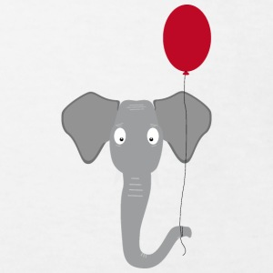 Elephant head with red balloon Shirts - Kids' Organic T-shirt