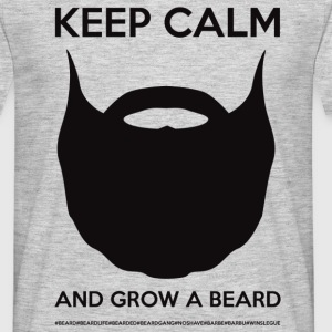 KEEP CALM AND GROW A BEARD Tee shirts - T-shirt Homme