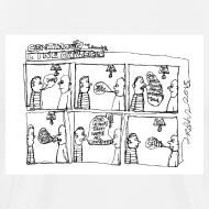 Design ~ Continuous Line Cartoon T-Shirt by Sam Backhouse