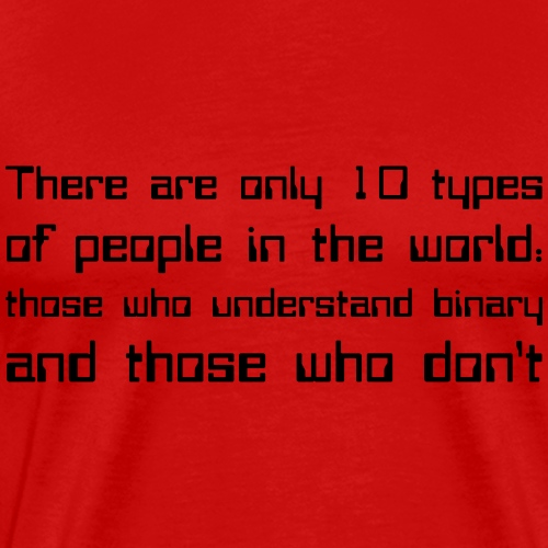 There are only 10 types of people in the world...