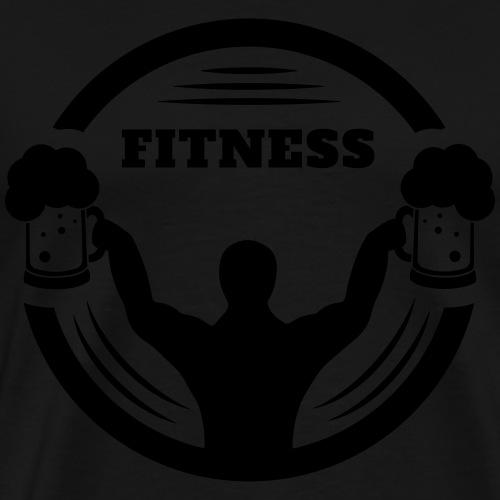Lichaam bouwer fitness met bier logo