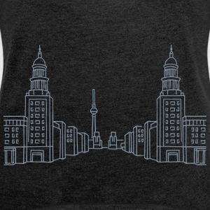 Frankfurter Tor Berlin T-Shirts - Women's T-shirt with rolled up sleeves