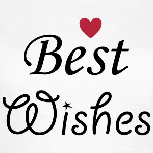 Best Wishes mit Herz T-Shirts - Frauen T-Shirt