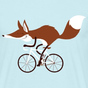 Sky Blue Fox Cycling T-Shirt - Men's T-Shirt