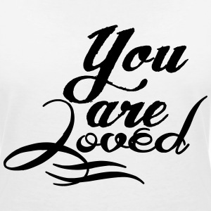 You are loved Camisetas - Camiseta con escote en pico mujer