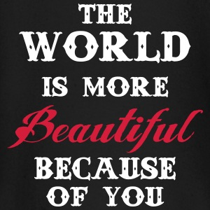 The world is more beautiful because of you Langermede T-skjorter for babyer - Langarmet baby-T-skjorte