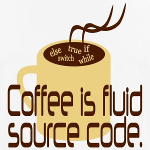 Coffee is source code T-Shirts - Männer T-Shirt atmungsaktiv