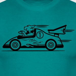Funny race car dog T-Shirts - Men's T-Shirt