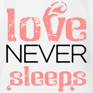 Love never sleeps Body neonato - Body ecologico per neonato a manica corta