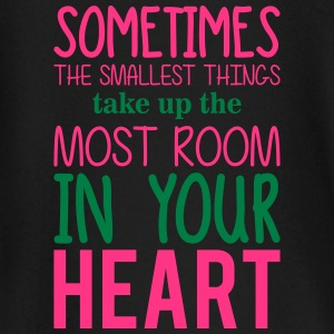 the smallest things take up the most room baby shirts met lange mouwen - T-shirt