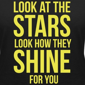 Look at the stars. Look how they shine for you Tee shirts - T-shirt col V Femme