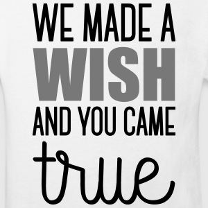 Babydesign: We made a wish and you came true T-shirts - Organic børne shirt