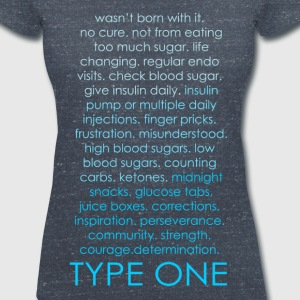 Type One Ombre - Blue T-Shirts - Women's V-Neck T-Shirt