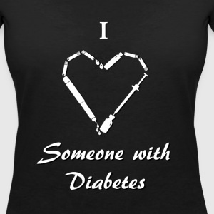 I Love Someone With Diabetes - Needle - White T-Shirts - Women's V-Neck T-Shirt