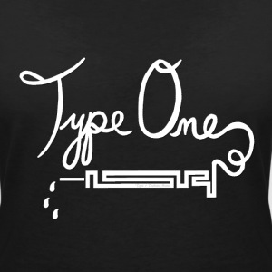 Type One Diabetes - Needle Design - White T-Shirts - Women's V-Neck T-Shirt