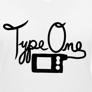 Type One Diabetes - Insulin Pump 2 - Black T-Shirts - Women's V-Neck T-Shirt