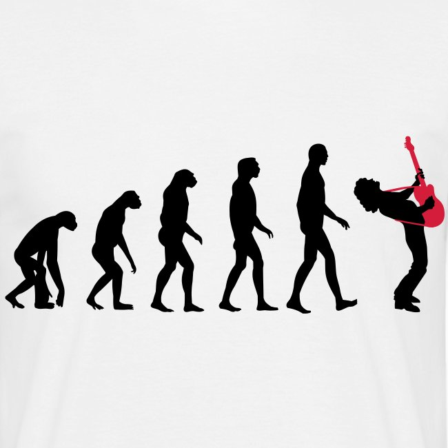 The Evolution Of Rock Tee - mens