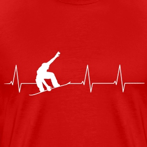 Heartbeat Snowboarder Tee shirts - T-shirt Premium Homme