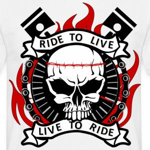 T-shirt Ride to live - T-shirt Homme