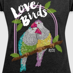 Animal Planet Women T-Shirt Birds - Women's T-shirt with rolled up sleeves