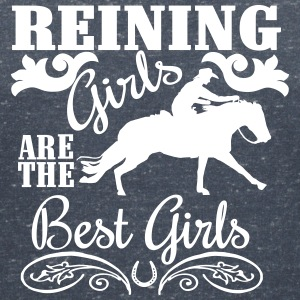 Reining Girls are the best Girls T-Shirts - Women's V-Neck T-Shirt
