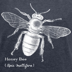 Animal Planet Women T-Shirt Bee - Women's T-shirt with rolled up sleeves