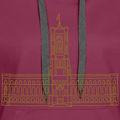 Rotes Rathaus gold-metallic T-shirt Druck Berlin