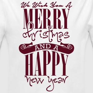 We wish you a merry christmas and a happy new year Baby Bodys - Baby Bio-Langarm-Body