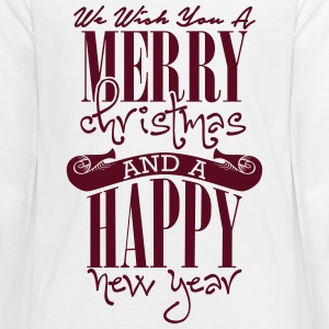 We wish you a merry christmas and a happy new year Langarmshirts - Teenager Premium Langarmshirt