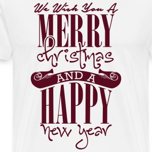 We wish you a merry christmas and a happy new year T-shirts - Mannen Premium T-shirt