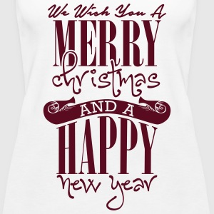 We wish you a merry christmas and a happy new year Topper - Premium singlet for kvinner
