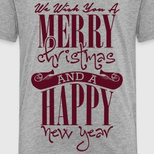 We wish you a merry christmas and a happy new year Camisetas - Camiseta premium niño