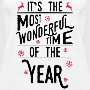 It's the most wonderful time of the year Topper - Premium singlet for kvinner