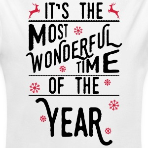 It's the most wonderful time of the year Baby body - Baby bio-rompertje met lange mouwen