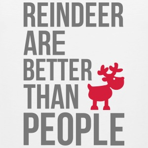 Reindeer are better than people Tank Tops - Men's Premium Tank Top