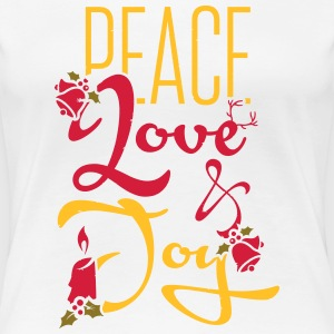 Peace, Love T-shirts - Vrouwen Premium T-shirt