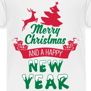 Merry Christmas and a Happy new Year T-shirts - Premium-T-shirt barn