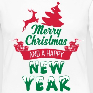 Merry Christmas and a Happy new Year Långärmade T-shirts - Långärmad premium-T-shirt dam