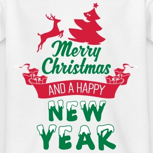 Merry Christmas and a Happy new Year T-shirts - T-shirt tonåring