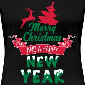 Merry Christmas and a Happy new Year Tee shirts - T-shirt Premium Femme