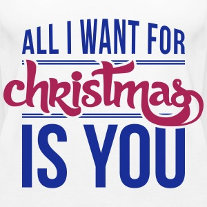 All I want for christmas is you Top - Canotta premium da donna