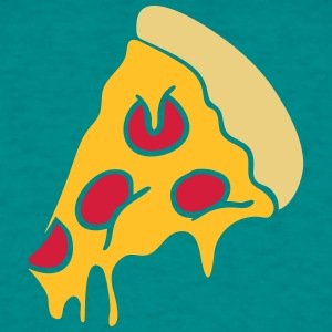 pizza droppande ost salami delad design T-shirts - T-shirt herr
