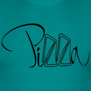 Pizza text lettering pieces margherita cheese T-Shirts - Men's T-Shirt