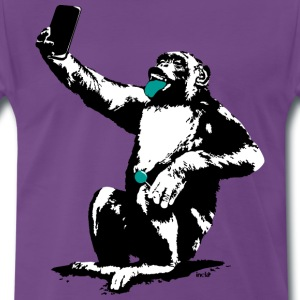 Purple INOLA-Selfie T-Shirts - Men's Premium T-Shirt