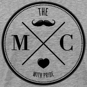The Movember Moustache Club with pride DD T-shirts - Premium-T-shirt herr