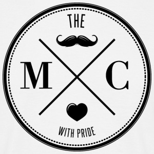 The Movember Moustache Club with pride DD T-shirts - Mannen T-shirt