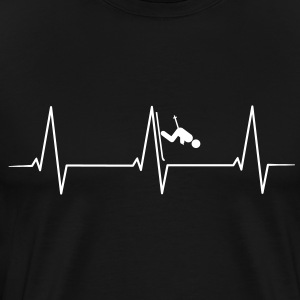 Skiing Downhill heartbeat T-Shirts - Men's Premium T-Shirt
